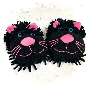 NEW FUN FOR FEET Aroma Home Cat Fuzzy Slippers